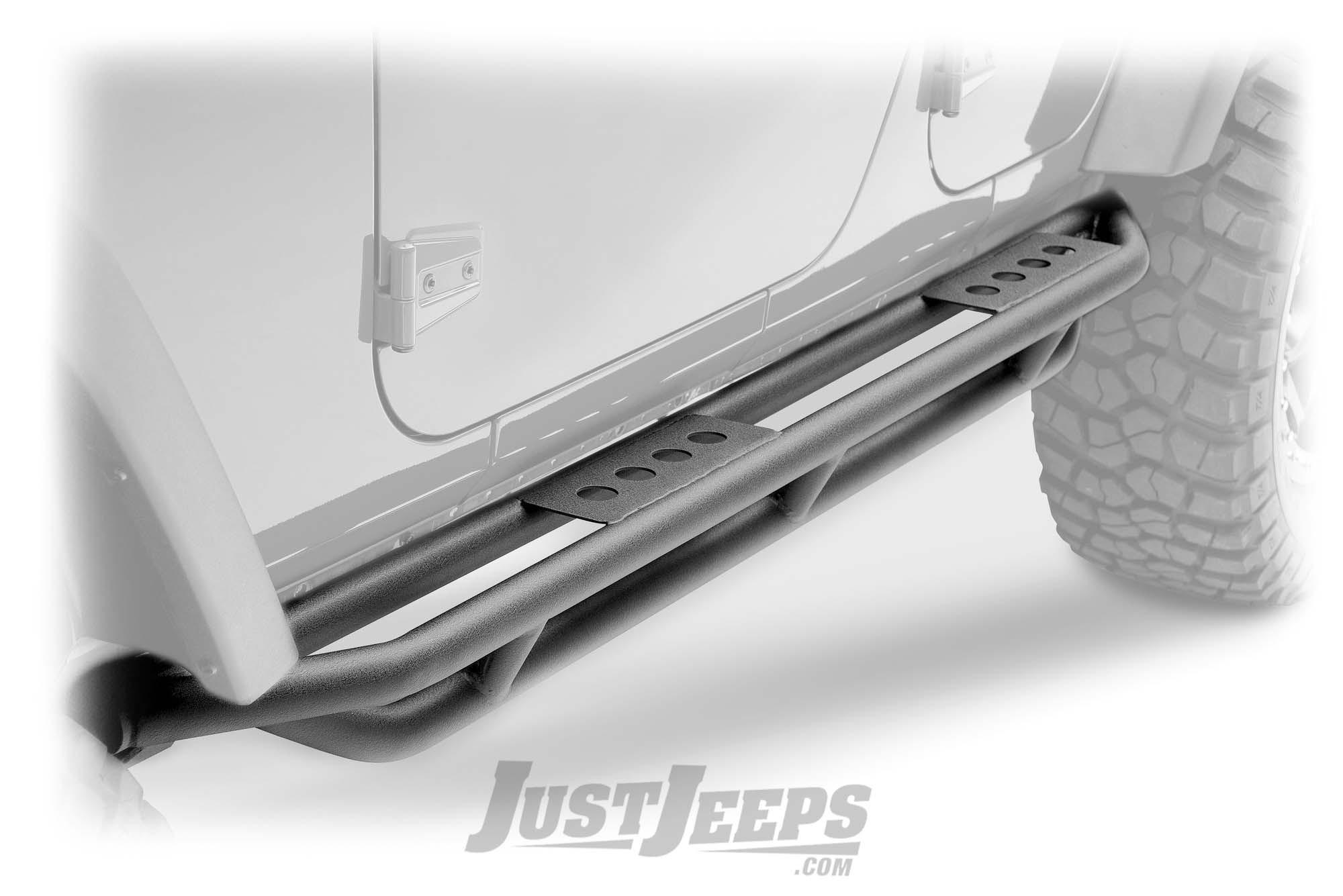 SmittyBilt SRC Side Armor Steps For 2007-18 Jeep Wrangler JK Unlimited 4 Door Models 76634-