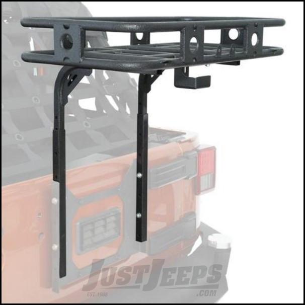 SmittyBilt Defender Rack Tailgate Bolt On Basket For 2007-18 Jeep Wrangler JK 2 Door & Unlimited 4 Door Models 76718