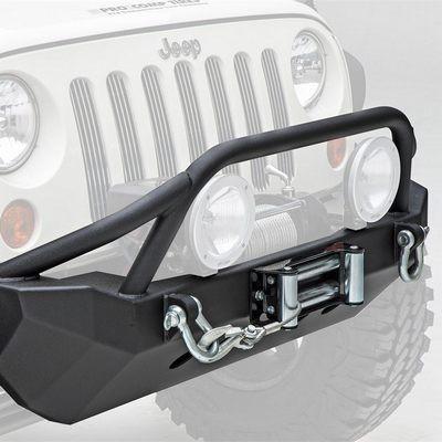 SmittyBilt XRC Front Bumper In Black Textured For 2007-18 Jeep Wrangler JK 2 Door & Unlimited 4 Door Models 76806