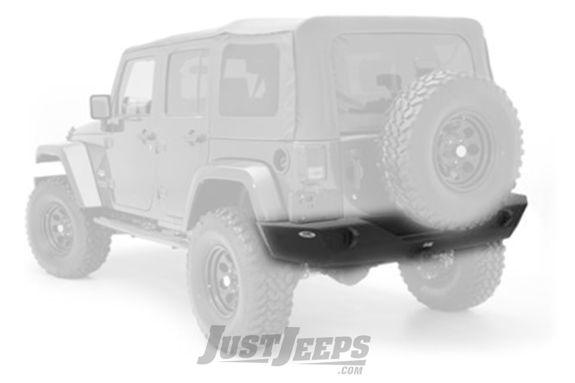 Just Jeeps Buy Smittybilt Xrc Armor Rear Bumper With Hitch For 2007 Jeep Wrangler Jk Sub 18 2 Door Unlimited 4 Models