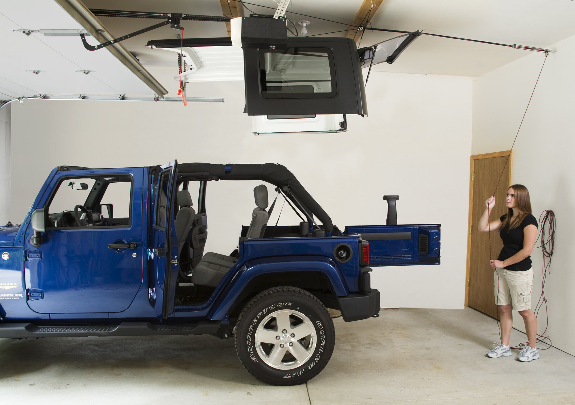 Harken Hoister Garage Hard Top Storage 4-Point Lift System | 45-145 lb Load | Up to 10' Ceilings | For 1987+ Various Jeep Models (See Details)
