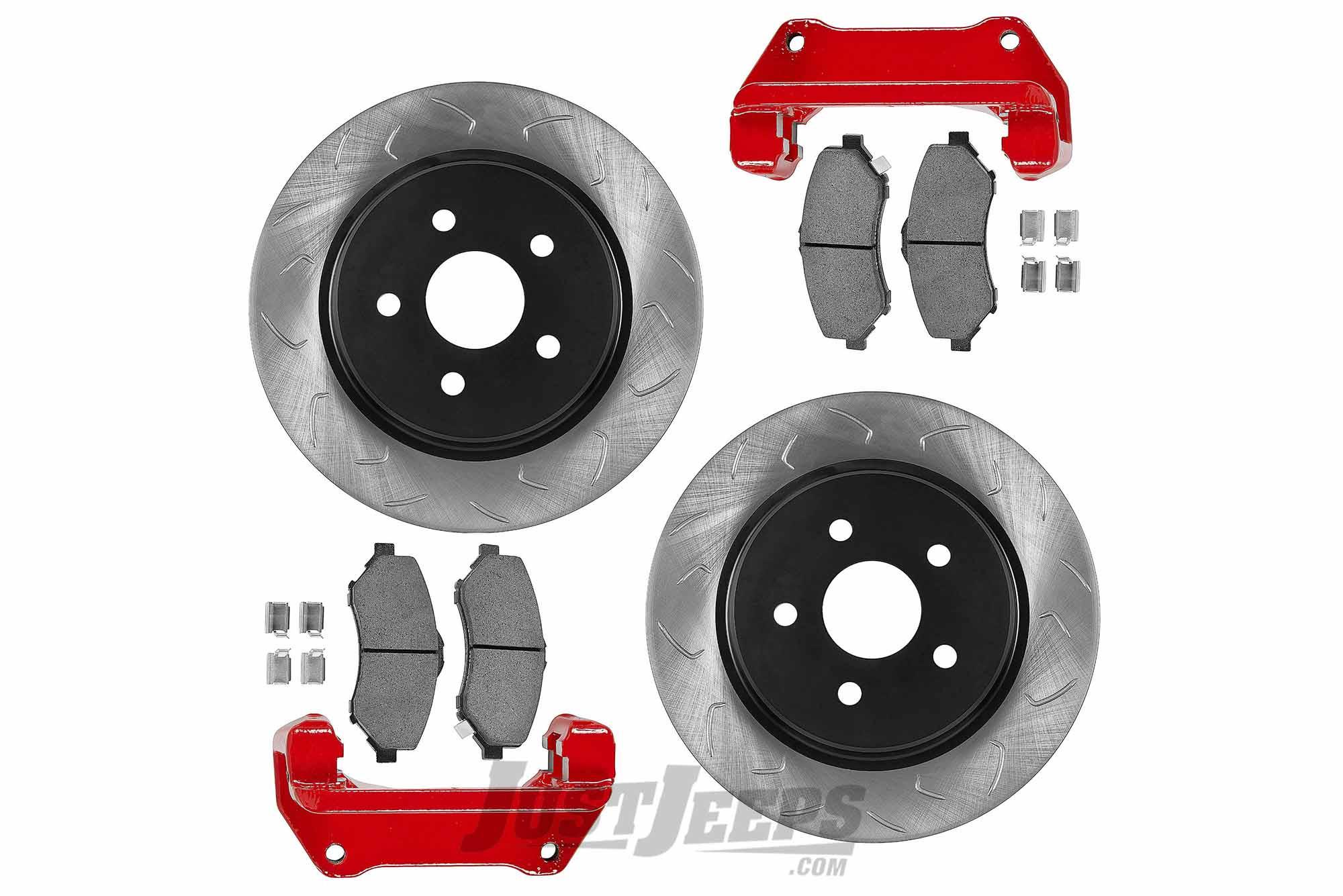 G2 Axle & Gear Front Big Disc Brake Kit For 2007-18 Jeep Wrangler JK 2 Door  & Unlimited 4 Door Models