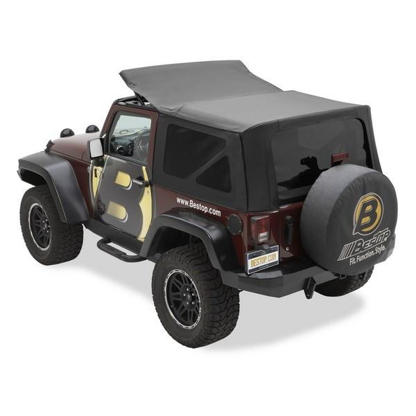 Bestop (Black Diamond) Replace-a-Top Soft Top For 2007-09 Jeep Wrangler JK 2 Door Models