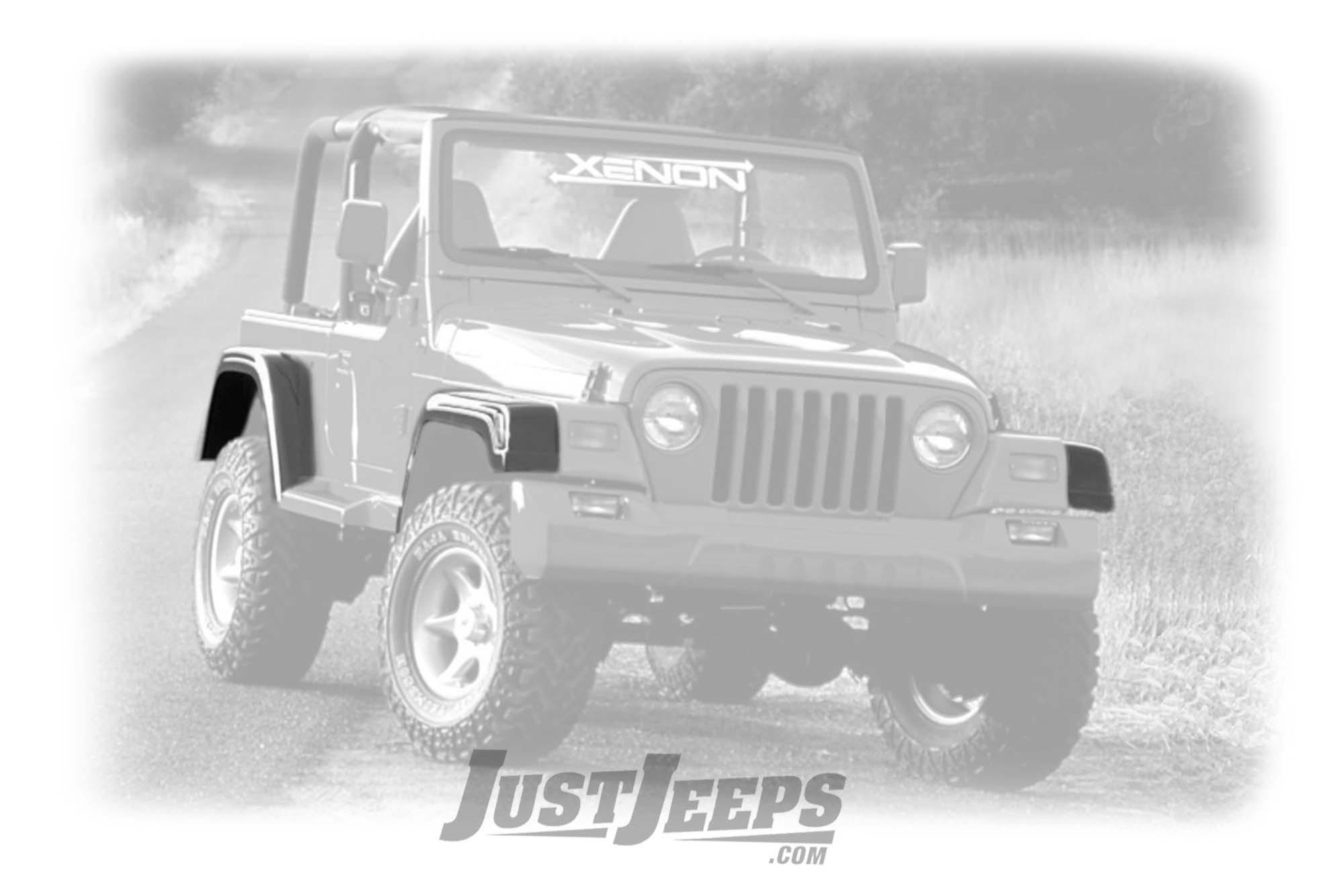 """Xenon EZ Mount 6"""" Fender Flare Set For 1997-06 Jeep Wrangler TJ & TLJ Unlimited Models"""