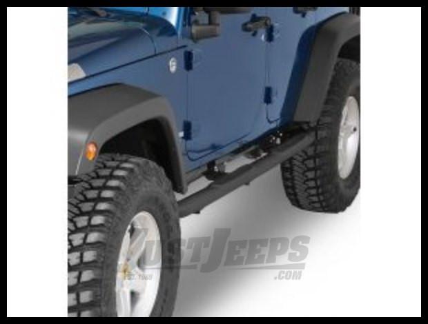 Rampage (Textured Black) Endurance Side Bars For 2007-18 Jeep Wrangler JK Unlimited 4 Door Models 8828