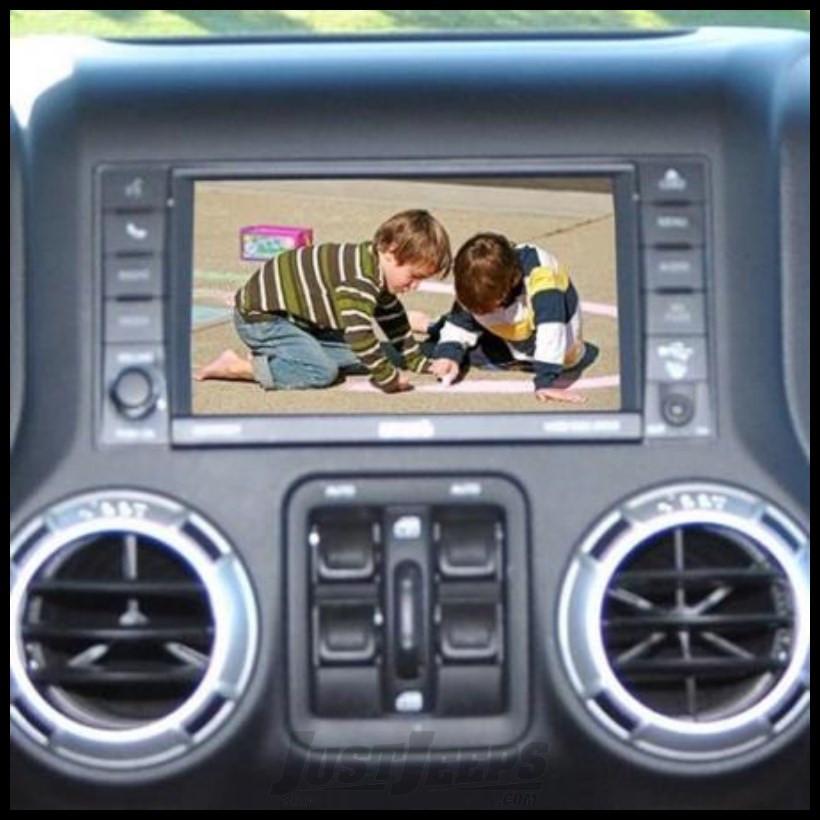 Brand Motion Adjustable Rear Vision System with Factory Display Radios For 2007-18 Jeep Wrangler JK 2 Door & Unlimited 4 Door