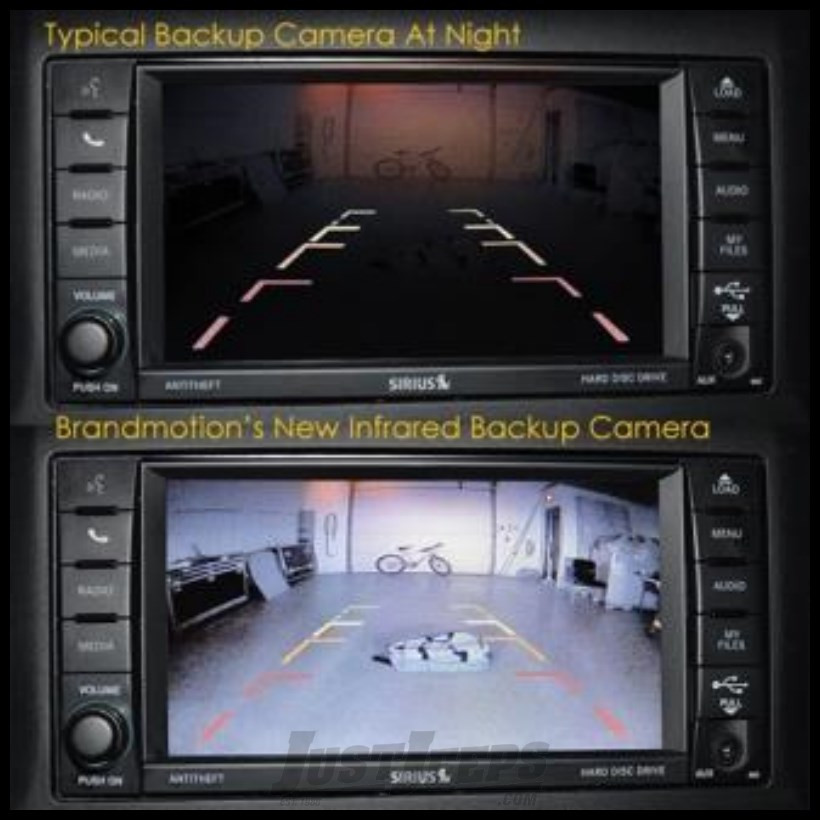 Brand Motion Infrared Light Rear Vision System with Factory Display Radios For 2007-18 Jeep Wrangler JK 2 Door & Unlimited 4 Door