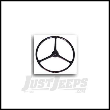 Omix-ADA Steering Wheel Black For 1963-71 Jeep CJ Series 18031.04
