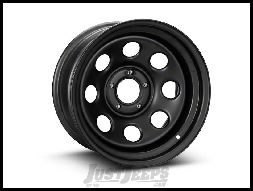 Pro Comp 97 Rock Crawler Series Wheel 17x9 With 5 On 5.00 Bolt Pattern & 4.25 Backspace In Flat Black PCW97-7973F