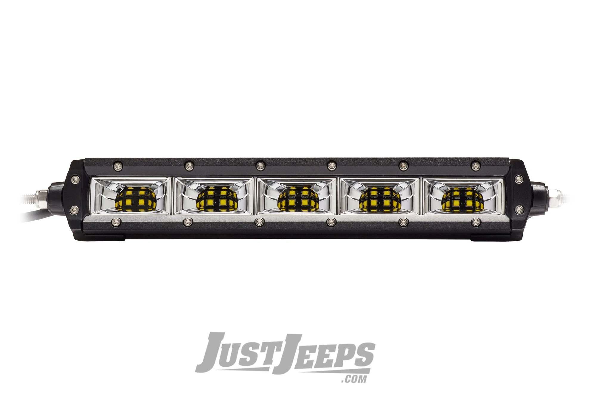 """KC HiLiTES M-Rack 10"""" C-Series Flood LED Light Bar (4 Piece) For 2007+ Jeep Wrangler JK/JL 2 Door & Unlimited 4 Door Models"""