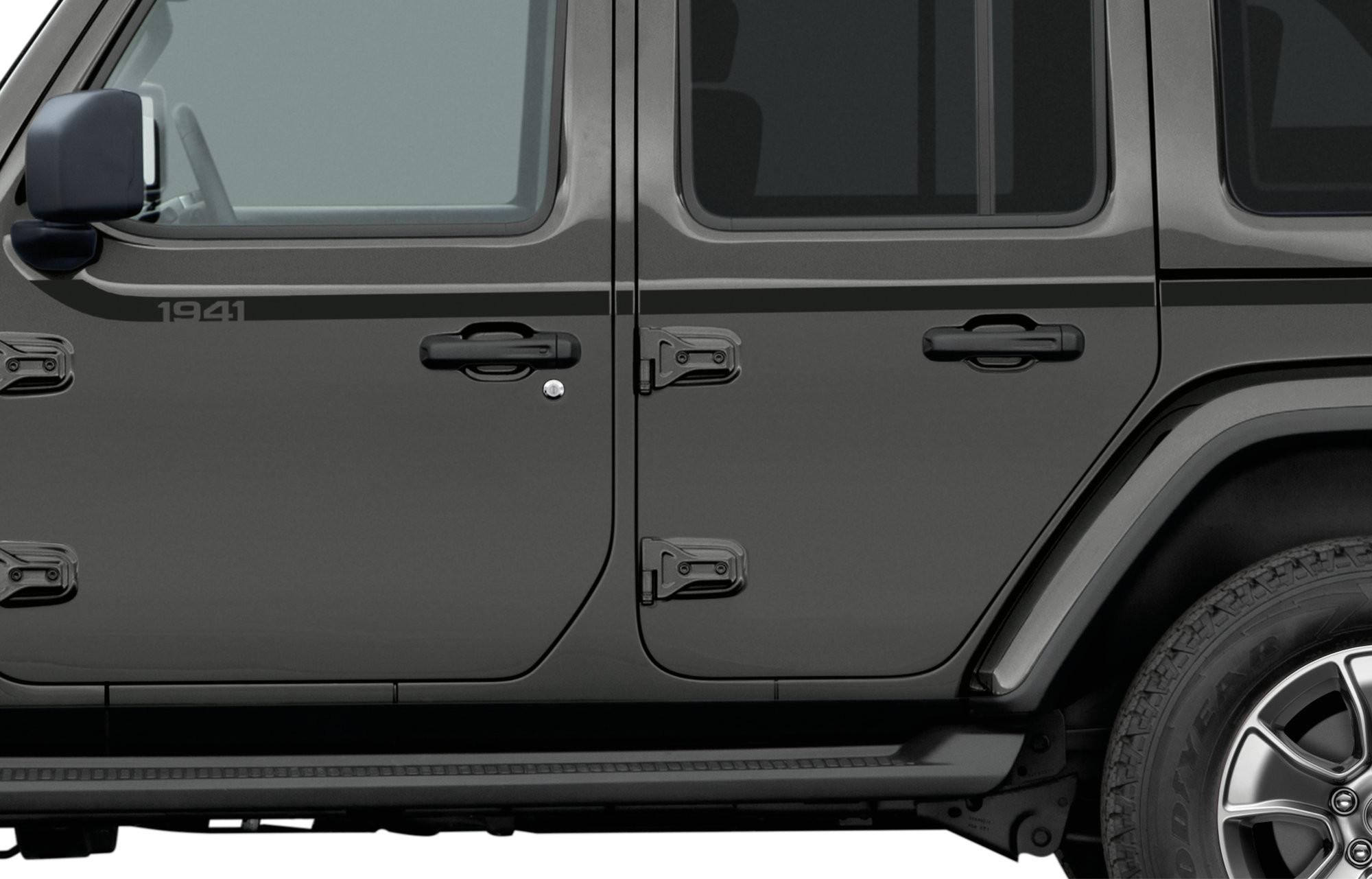 Just Jeeps Mopar Quot 1941 Quot Swoosh Side Decal For 2018 Jeep