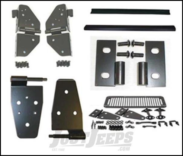 SmittyBilt Exterior Dress Up Kit In Black For 1987-95 Jeep Wrangler YJ Models YJBLKACC