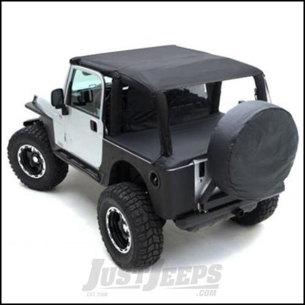 SmittyBilt Summer Top Bundle in Black Diamond For 2010-18 Jeep Wrangler JK 2 Door Models