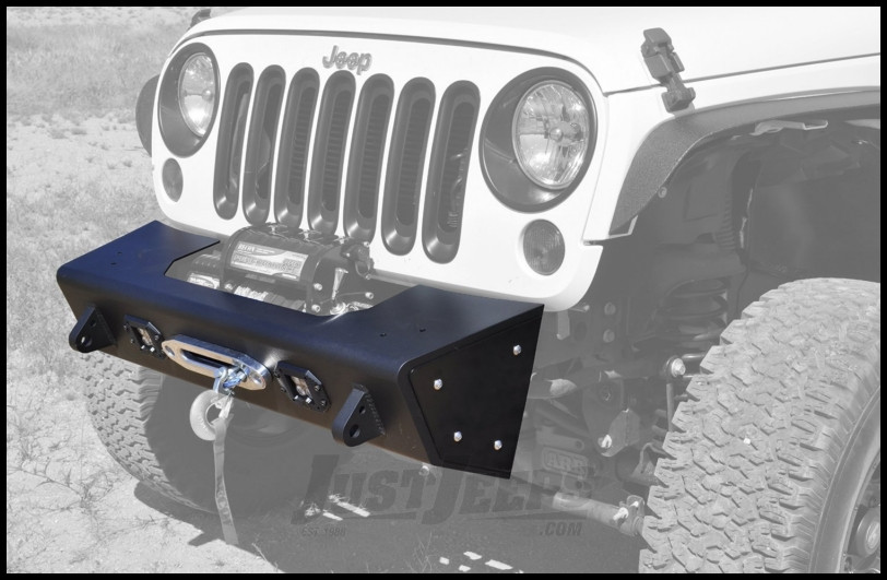 Addictive Desert Designs Stealth Fighter Modular Front Bumper With D-Ring Mounts In Black For 2007-18 Jeep Wrangler JK 2 Door & Unlimited 4 Door Models