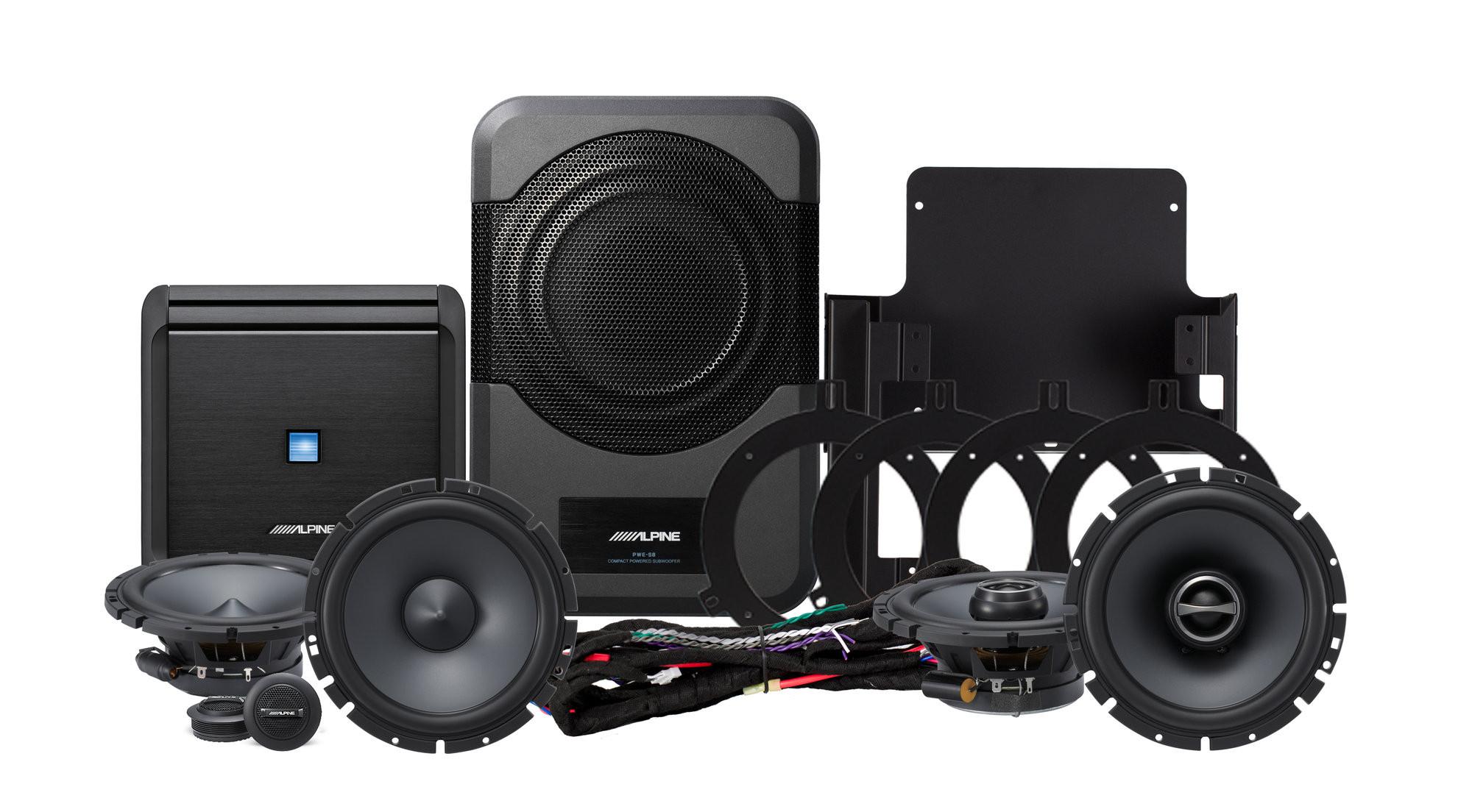Alpine PSS21WRA Full Sound System Upgrade For 2015-18 Jeep Wrangler JK Unlimited 4 Door Models