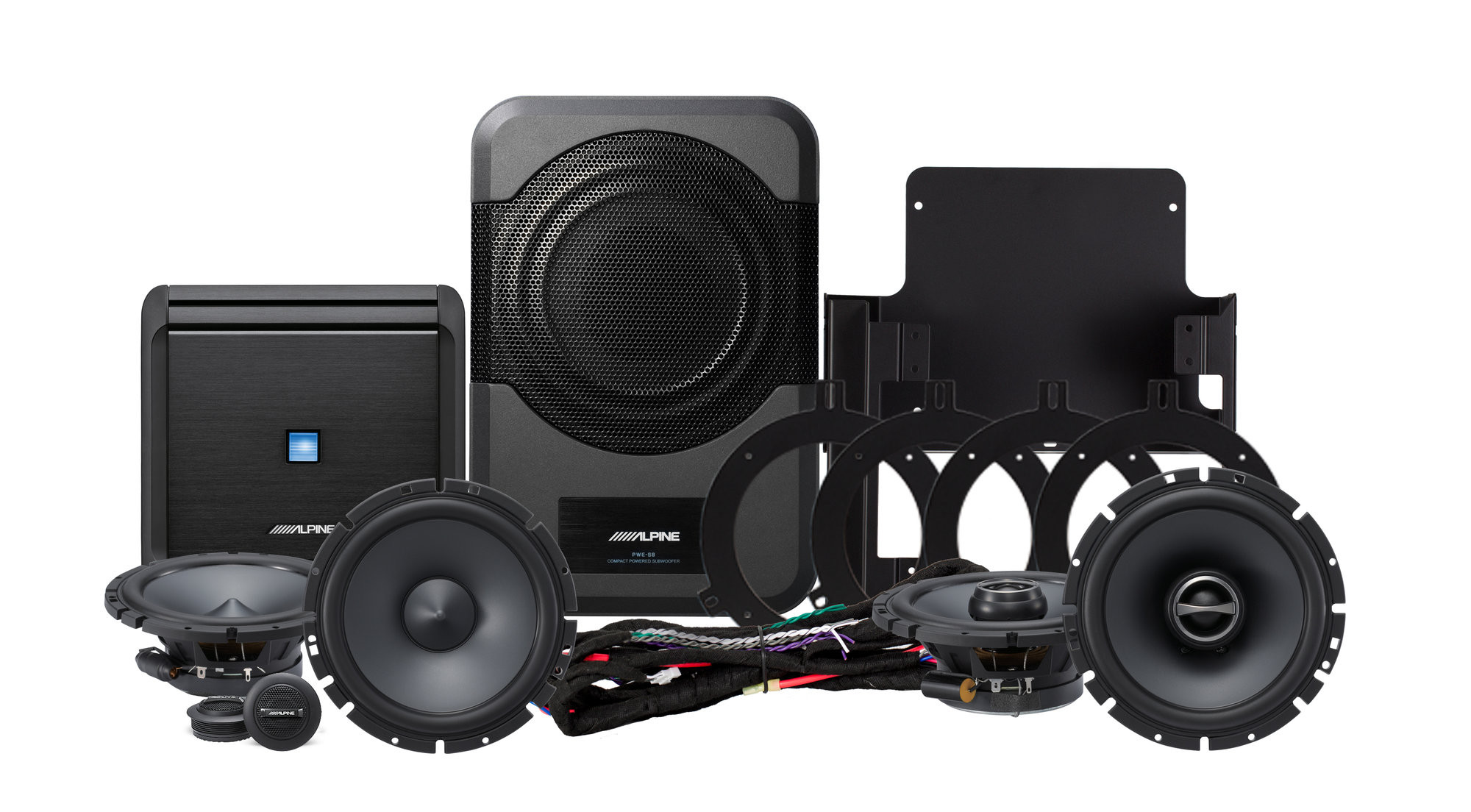 Alpine PSS-20WRA Full Sound System Upgrade For 2007-14 Jeep Wrangler JK Unlimited 4 Door Models PSS-20WRA