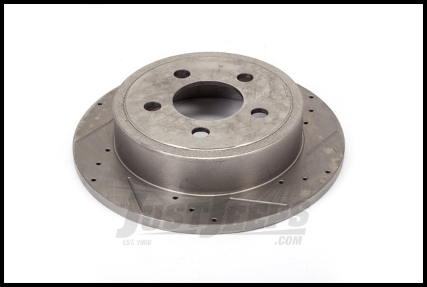 Alloy USA Front Cross Drilled & Slotted Performance Brake Rotors For 1990-99 Jeep Wrangler YJ, TJ Models, Grand Cherokee & Cherokee XJ 11350