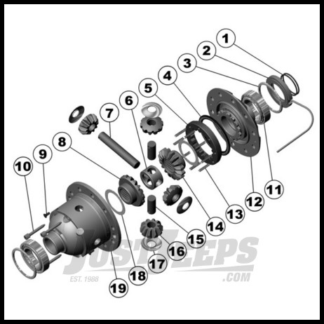 ARB Air Locker For Dana Model 44 Axle For 30 Spline (Stock OEM Axle Shafts)  For Gear Ratio 3 73 & Down Fits: Jeep Wrangler JK (All Ratio's), TJ, YJ,