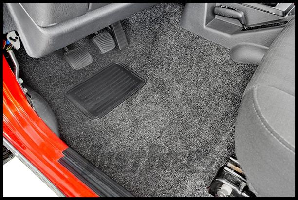 BedRug Front 3 Piece Floor Kit With Heat Shield For 2007-10 Jeep Wrangler JK 2 Door Models BRJK07F2