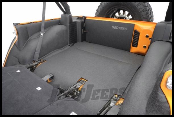BedRug BedTred Rear 5 Piece Cargo Kit Includes Tailgate & Tub Liner For 2011-18 Jeep Wrangler JK Unlimited 4 Door Models BTJK11R4