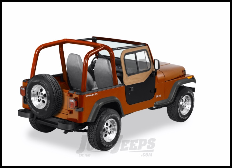 BESTOP Upper Door Sliders In Spice Denim For 1988-95 Jeep Wrangler YJ For Factory OE Hardware