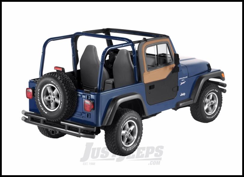 BESTOP Upper Door Sliders In Spice Denim For 1997-06 Jeep Wrangler TJ & TLJ Unlimited Models