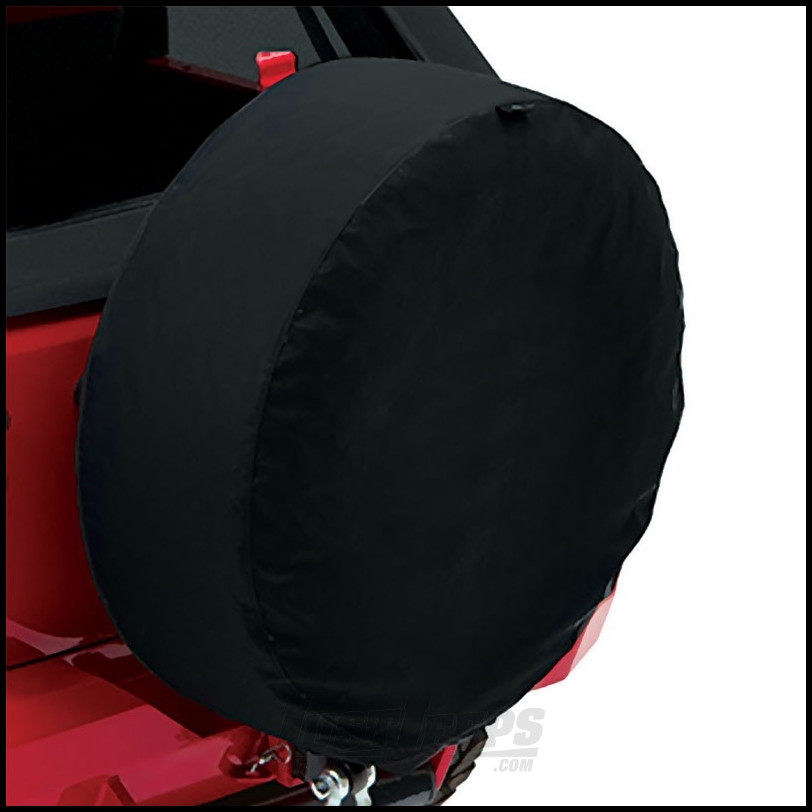 """BESTOP Tire Cover For 32"""" x 12"""" (255/75R17 & 255/70R18) Size Tires In Black Twill 61032-17"""