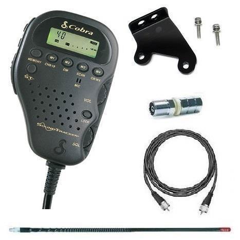 Cobra Electronics Compact CB Radio 75WXST Kit For 2007-18 Jeep Wrangler JK 2 Door & Unlimited 4 Door Models CB75JKPKG