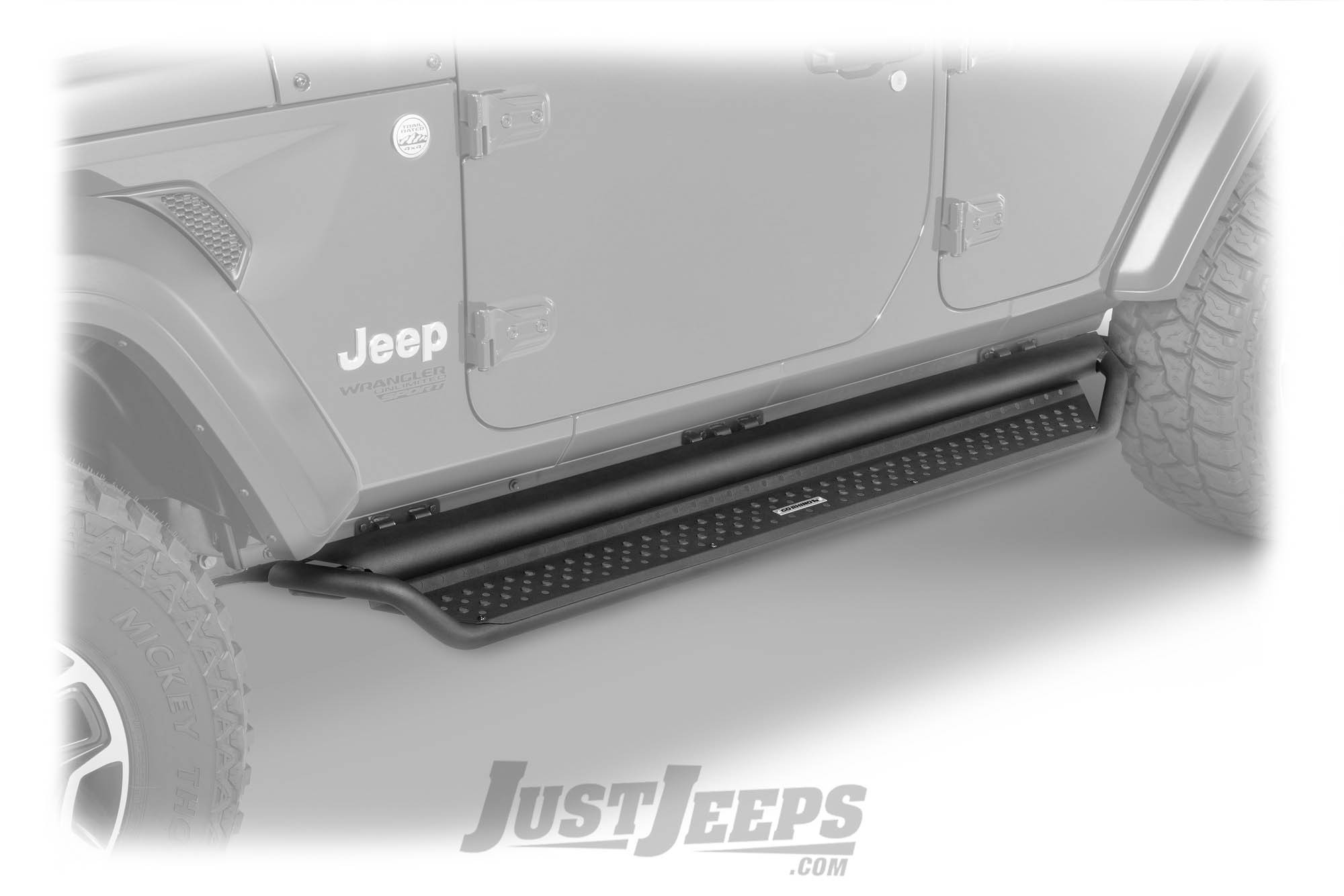 Just Jeeps Go Rhino D1 Dominator Side Steps For 2018 Jeep Wrangler Door Parts Jl Unlimited 4 Models