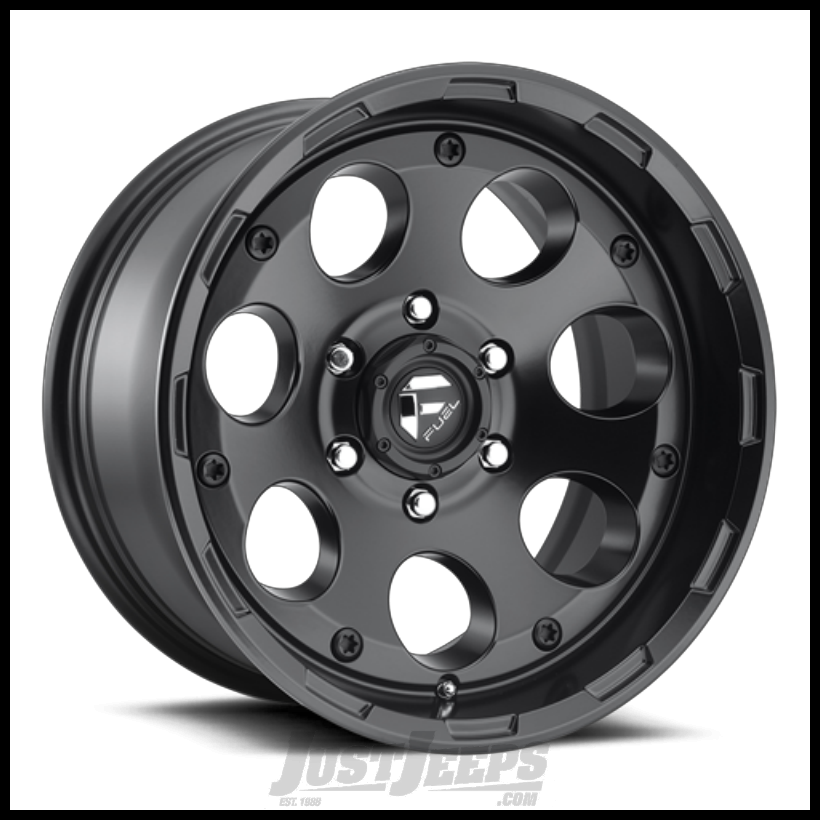 Just Jeeps Fuel Off Road D608 Enduro 17x9 In Matte Black For Jeep