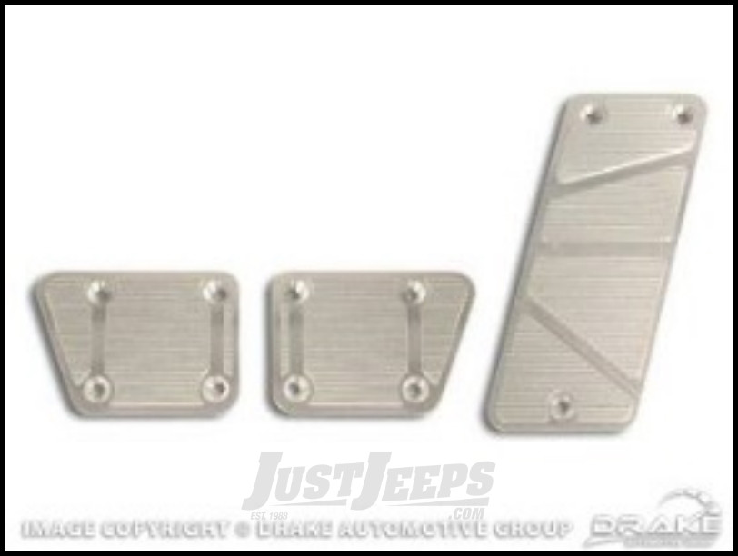 Just Jeeps Drake Off Road Billet Aluminum Pedal Pad Covers