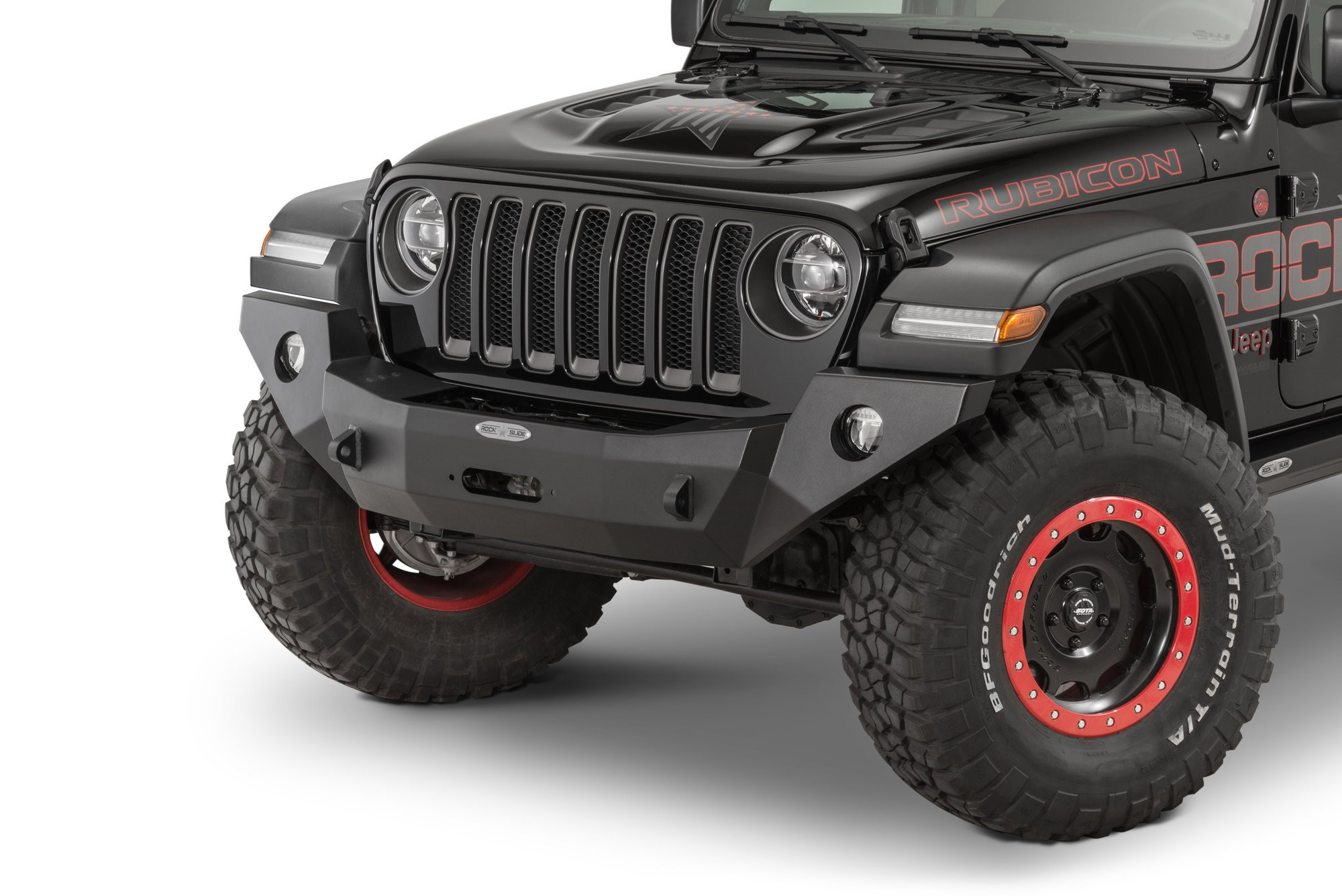 Just Jeeps Buy Rock Slide Engineering Black Rigid Front