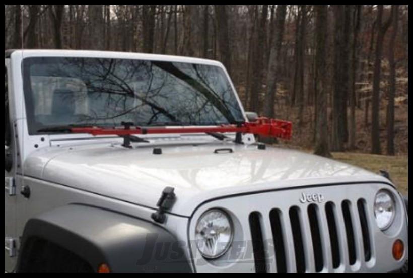 Just Jeeps Hi Lift Jack Hood Mount For Wrangler Jk Jeep