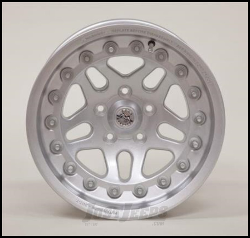 Hutchinson Beadlock Wheel  17 X 8.5 With 5 On 5.50 Bolt Pattern In Silver