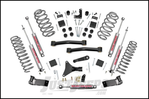"""Rough Country 4"""" Suspension Lift System With N3.0 Series Shocks For 1999-04 Jeep Grand Cherokee WJ 698.20"""