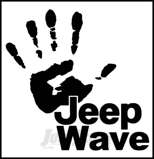 just jeeps sticker jeep wave black
