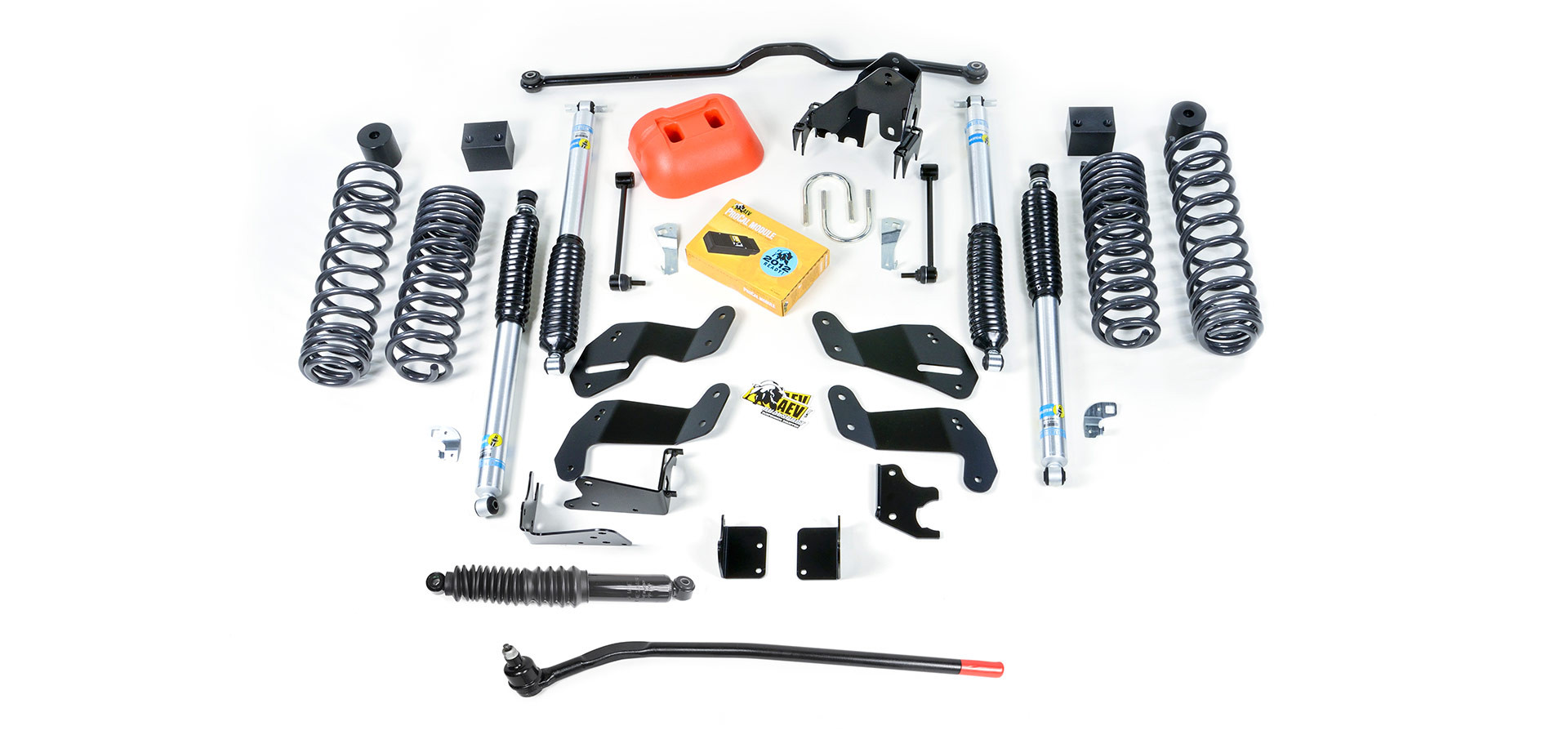 "AEV 3.5"" DualSport SC Suspension System With Bilstein Shocks For 2007-18 Jeep Wrangler JK Unlimited 4 Door Models N0234100AA"