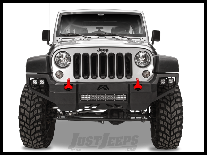 Just Jeeps Fab Fours Front Vengeance Bumper For 2007 18