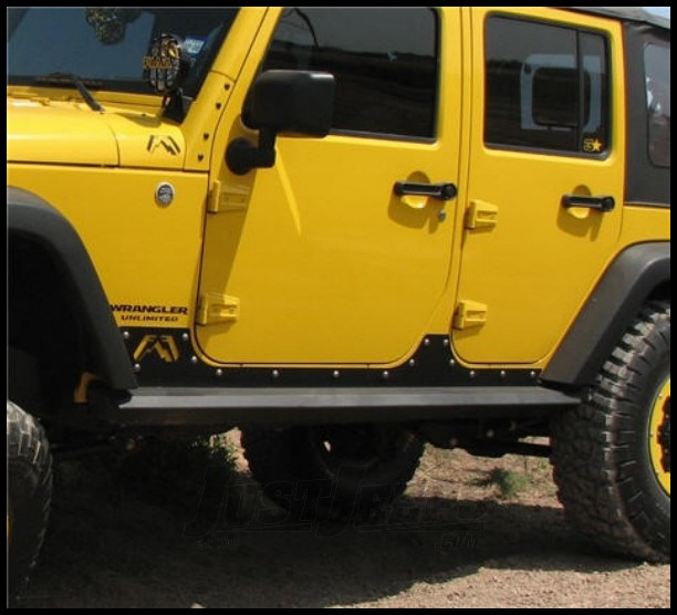 Just Jeeps Fab Fours Rock Sliders For 2007 18 Jeep
