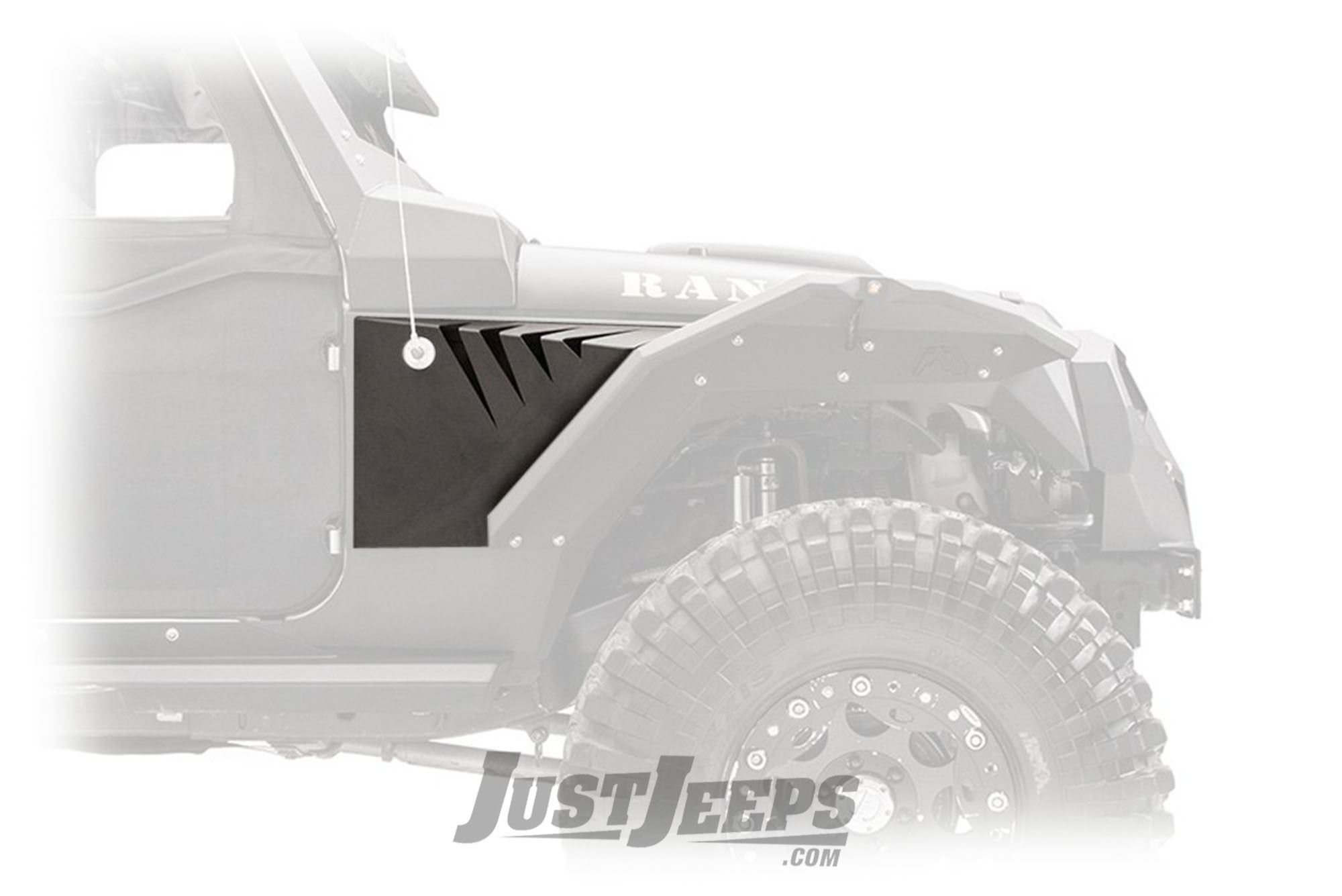 Fab Fours Front Fender Gill Box For 2007-18+ Jeep Gladiator JT & Wrangler JK/JL 2 Door & Unlimited 4 Door Models