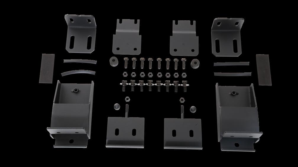 Body Armor 4X4 Roof Rack Mounting Kit (Textured Black) For 2007-18 Jeep Wrangler JK 2 Door & Unlimited 4 Door Models