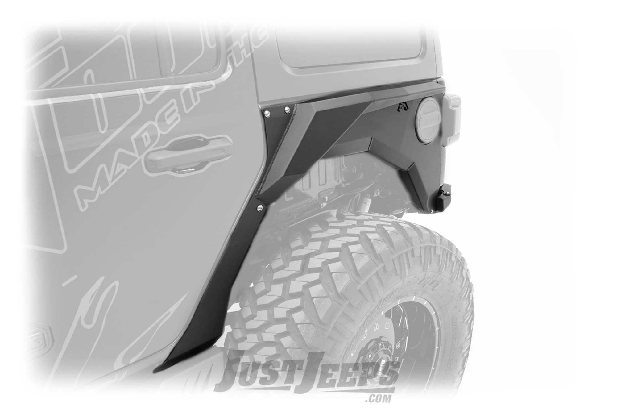 Fab Fours Rear Replacement Fender Flares For 2018+ Jeep Wrangler JL 2 Door & Unlimited 4 Door Models