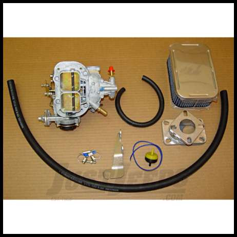Omix-ADA Weber Carburetor Assembly For 1972-78 Jeep CJ Series & Full Size  With 6Cyl 1 Barrel