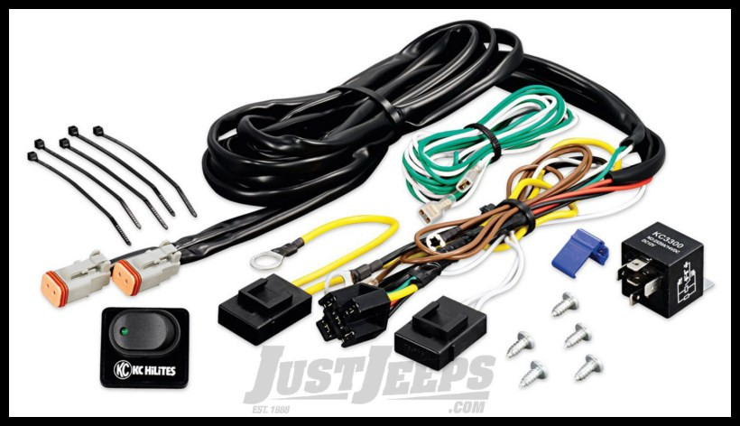 KC HiLiTES Deluxe Wiring Harness With 40Amp Relay & Switch on