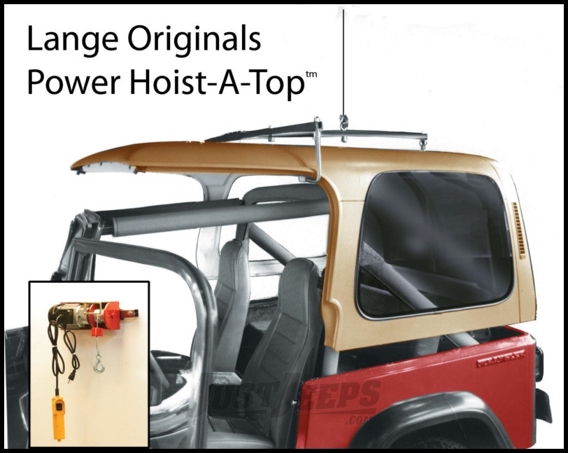 Just Jeeps Buy Lange Originals Hoist A Top Hardtop Removal