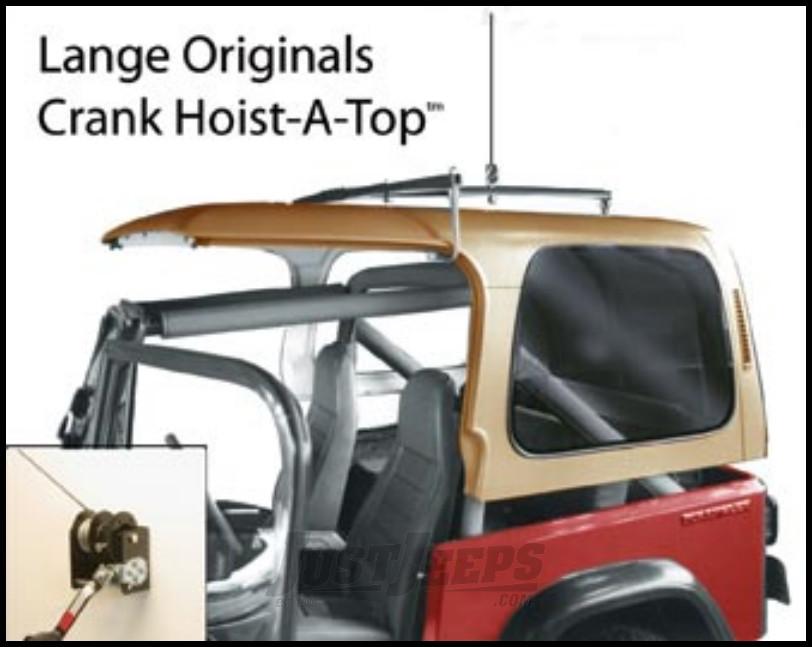 Just Jeeps Lange Originals Hoist A Top Hardtop Removal