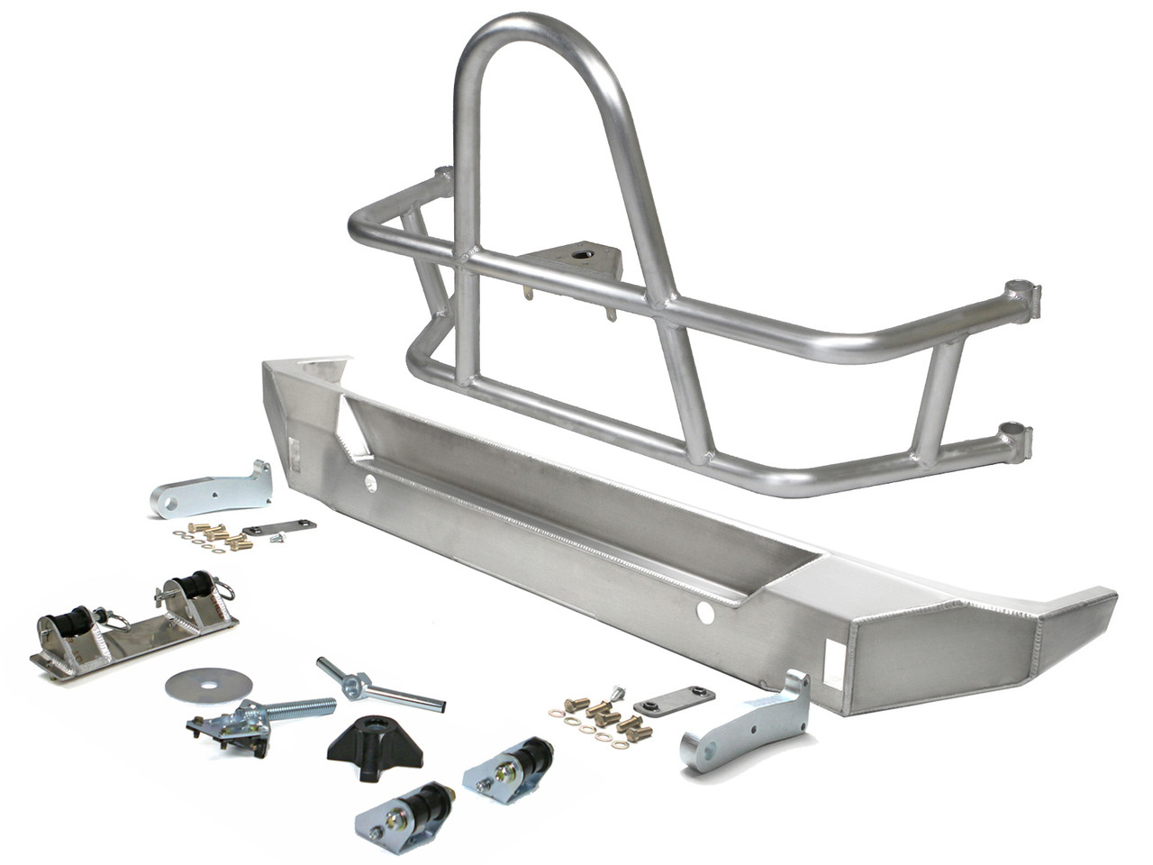 Genright Off Road Swing Out Rear Tire Carrier & Bumper Package For 2007-18 Jeep Wrangler JK 2 Door & Unlimited 4 Door Models RTC-RBB-PKG-A