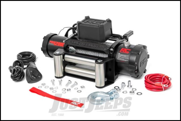 Rough Country Pro 12K Electric Winch With Steel Cable Rated For 12,000lbs.