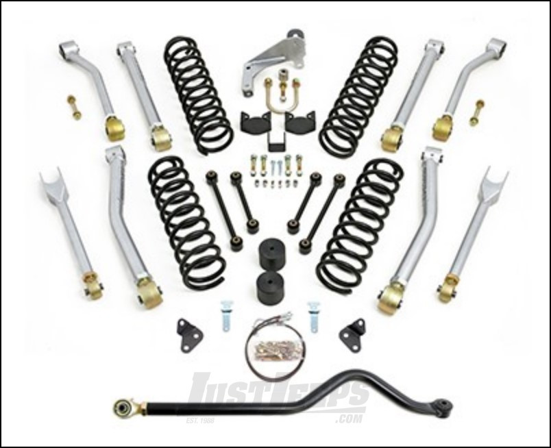 just jeeps readylift max flex short arm 4 5 u0026quot  lift kit with hd track bar for 2007  jeep wrangler