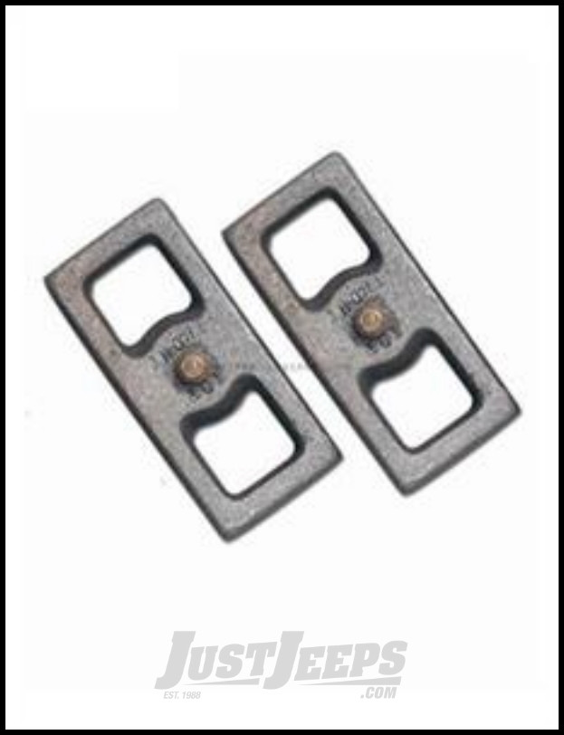Just Jeeps Rubicon Express Lift Blocks 2 Rear Pair For 1984 01 Jeep